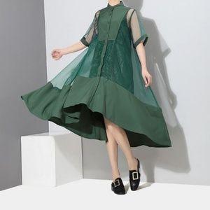 Dresses & Skirts - Asymmetric Mesh Dress